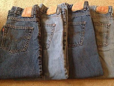 Lot Of 4 Boys Size 8 Husky 550 Relaxed Fit Levi Jeans