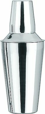 Stainless Steel 3 Pc Manhattan Style Cocktail Shaker Built in Strainer 3 Sizes