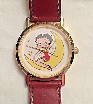Betty Boop 'Riding The Crescent Moon' Wrist Watch - *UNUSUAL*  Collectible