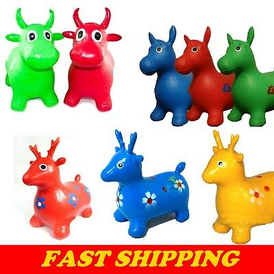 Crazy Animal Space Hoppers Inflatable Hooper Fun Bull Bouncy Horse Ride-On