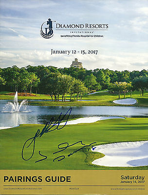 Johnny Damon & Josh Beckett Hand Signed DRI Golf Program MLB Baseball Autograph