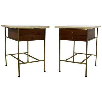 Mid Century Modern Paul McCobb for Calvin Pair of Nightstands Side End Tables