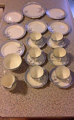 Beautiful Royal Albert English Bone China Harebell Tea Set - 21 pieces