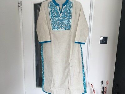 Indian Ethnic Casual Wear White Tunic Top