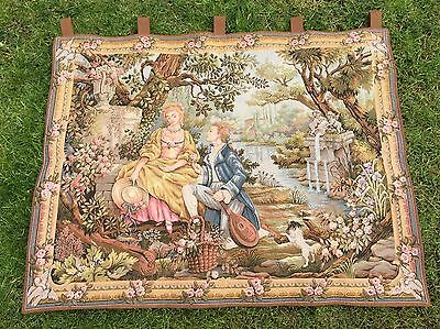 Fine French Vintage Wall Hanging Tapersty Marc Waymel, Jardin D'Amour