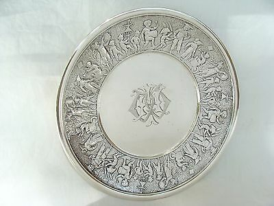 c1880 Antique Tiffany & Co Sterling Silver Children Parade Child's Plate