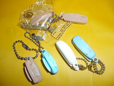 Lot Of 5 Vintage Key Chain Phones, Bell, Princess, Trimline, Old Ones,telephone