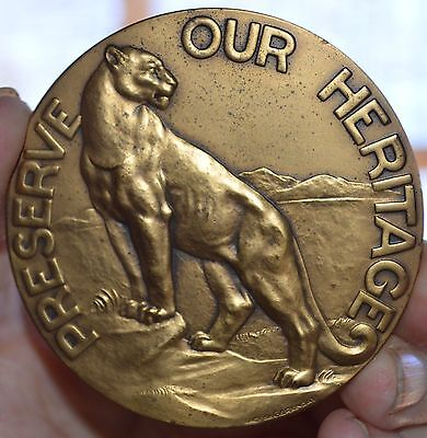 """1981 Society Of Medalists Issue #103, Prederve Our Heritage  Bronze Medal 2 3/4"""""""