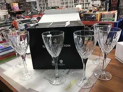 NEW Royal Doulton earlswood crystal Wine Glass (Set of 6) made in italy