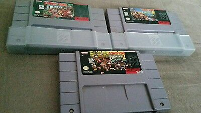 Super Nintendo SNES donkey kong country trilogy 1 2 3