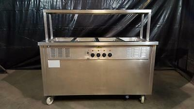 Delfield Shelleysteel SH-4-NU Four Well Electric Steam Table Serving Line
