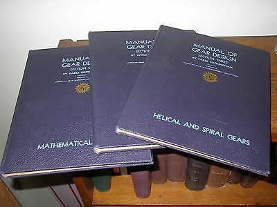 Vintage Manual of Gear Design Sections 1,2,3 (3 Books) Earle Buckingham 1944