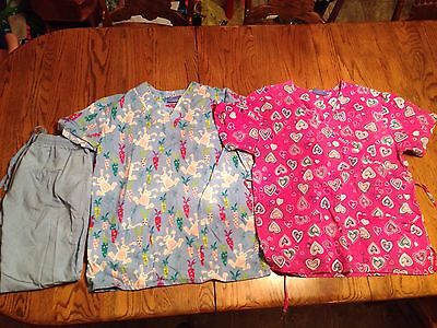 Women's Scrubs Tops And Pants Size S/M