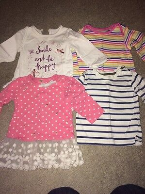 3-6  Month Girls Long Sleeved Tops