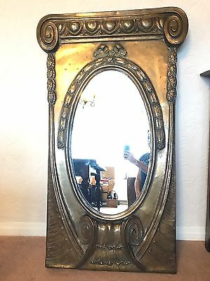 Large Antique Mirror Decorative Brass French