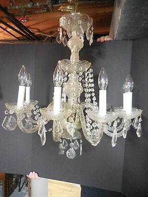 "8 Light Crystal Chandelier   34"" Tall"