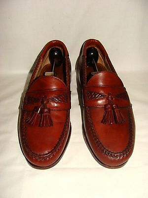 "Allen Edmonds ""maxfield"" Chili Brown Leather Tassel Loafers! 8.5 D, So Nice!"