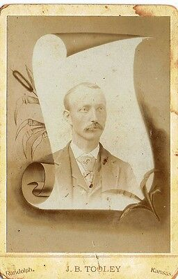 Old West Kansas Lawman Wearing Star On Lapel Cabinet Photo
