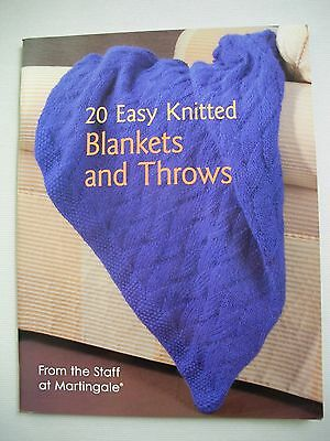 20 Easy Knitted Blankets & Throws - Martingale - Knitting Pattern Book