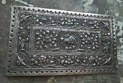 Rare Antique Chinese White Metal Embroidery Plate