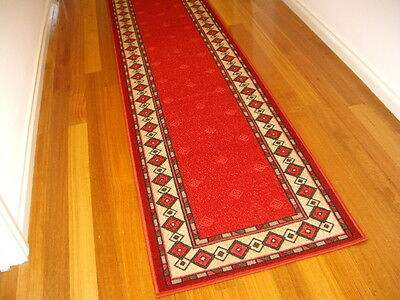 Hallway Runner Hall Runner Rug Modern Red 6 Metres Long FREE DELIVERY 20548