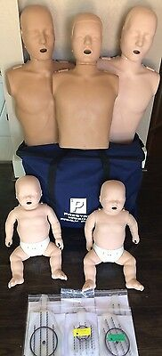 Prestan Family Pack of CPR Manikins (2 Adult, 1 Child, 2 Infant) + FREE GWP!
