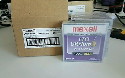 MAXELL 1xBox of 5 LTO Ultrium 3 Data Cartridge 400GB Native/800GB Compressed BN