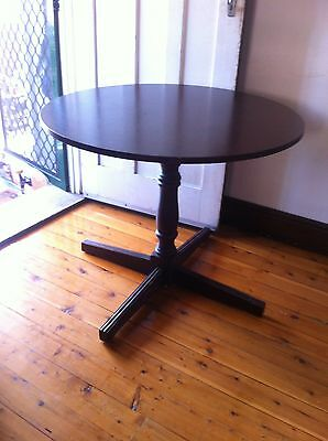 Retro Vintage Round Timber Table