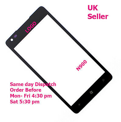 Nokia Lumia 900 N900 touch screen front outer glass lens with logo + tools