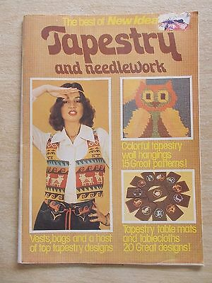 The Best of New Idea Tapestry & Needlework~Vintage Patterns~No Date~63pp P/B