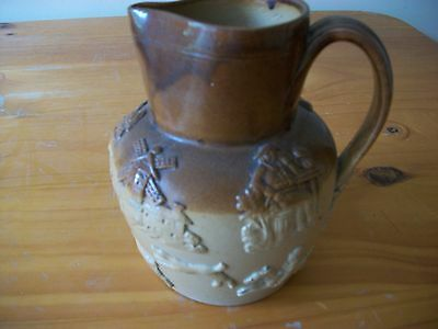 Vintage Jug - Huntsman on horse & dogs chasing deer