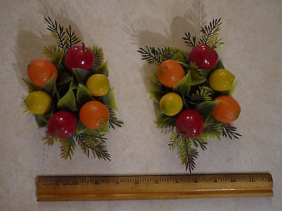 Vintage Plastic Fruit Candle Rings (2)