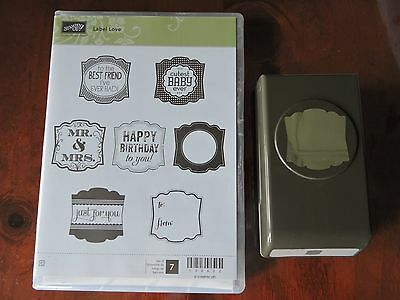 Stampin up Stamp and Punch set    Label Love