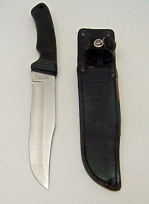 Vintage CRKT Sawtooth 2000 Fixed Blade Hunting Knife w Original Sheath Mint