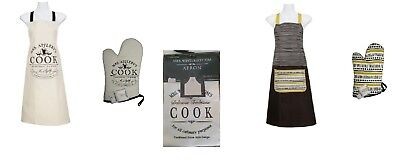 Cooking Apron Oven Glove Match Kitchen Mrs Winterbottom Appleby Love 3 Tea Towel