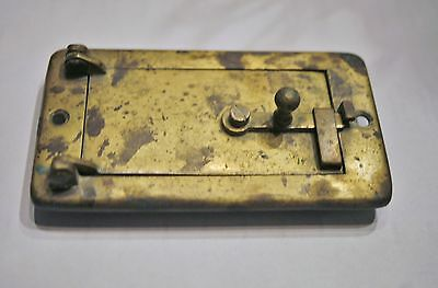 Vintage Antique Bronze Mail Box Door with Latch & Engraved Name Karl Picho