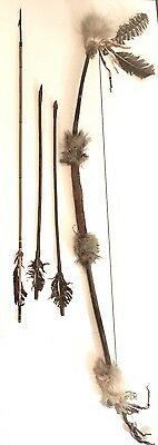 Indian Native American Bow With Three Arrows