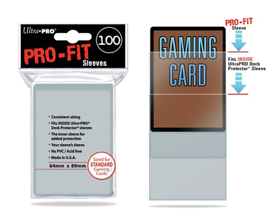 ULTRA PRO PRO-FIT Deck Protector Sleeves 100ct Pack BRAND NEW UltraPro Pro Fit