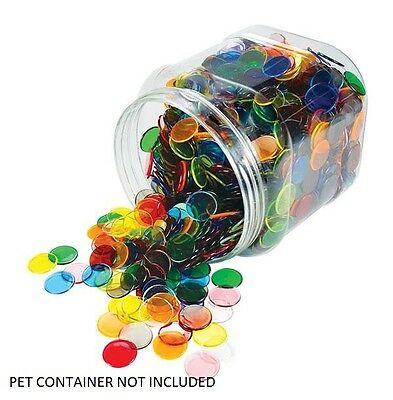 Counters Transparent 22mm 200 pieces Maths Games Teacher Resources Light Box Kid