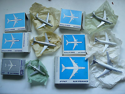 Lot Vintage Schuco Avion 4 Airbus A300B  Boeing 727 Boeing 747 Air France