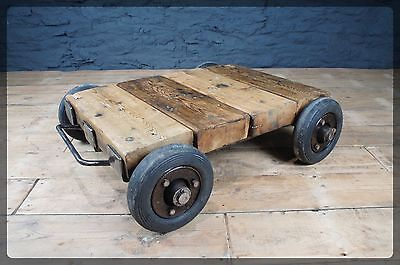 Industrial Vintage Gold Bullion Trolley - Rare!   Ideal Coffee Table Conversion
