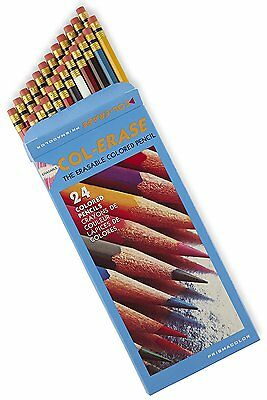 PRISMACOLOR Col-Erase Erasable Coloured Pencils 24 Pack *NEW*