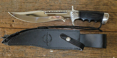 """Bowie Hunting Knife Hibben New. Customised Blade by Renwa """"STUNNING"""""""