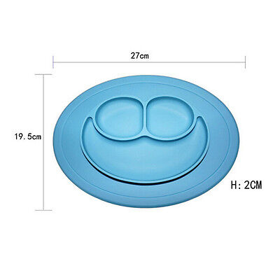Placemat Feeding Tray Heat Resistant Bowl Dishes  Children Mini Mat Silicone