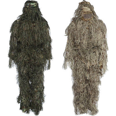 High Quality! Ghillie Suit Sniper Camo 3D Woodland Camouflage Forest Hunting+Bag