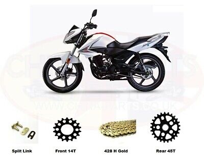 Sinnis SP125 JS125-7F Heavy Duty Chain and Sprocket Kit GOLD