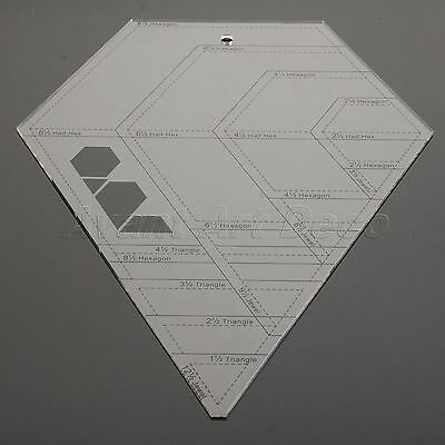 Quilting Sewing Patchwork Ruler Cutting Tailor Craft Handwork Diamond-shaped