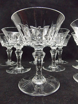 Baccarat - 9 Coupes A Champagne Modele Piccadilly . Hauteur 12.5 Cms-Lot N°1
