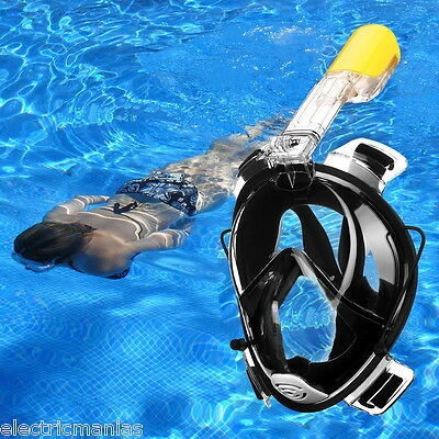 Full Face Snorkeling Snorkel Mask Diving Goggles W/ Breather Pipe For GoPro AUS