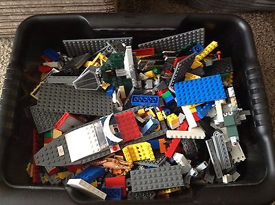 Lot3 5KG Used Lego Inc Figures And Plates.